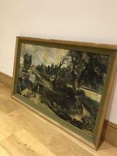 Giant Vintage John Constable Flatford Mill   Large Framed Print Vintage Artwork