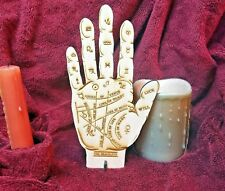 "8"" Homemade Wooden Palmistry Hand for Palm Reading, Gypsy Fortune Teller Psychic"