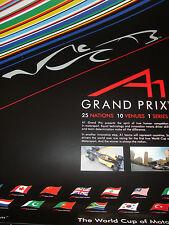 Grand Prix A1 Official Flyer affiche coupe du monde de Motorsport très rare