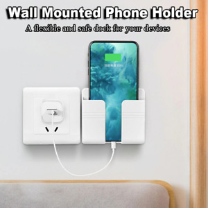 Wall Stand Mount Phone Charger Holder for iPhone Samsung Tablet