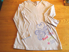 AMERICAN GIRL CLOTHING FOR GIRLS LIGHT PURPLE LS BUTTERFLY TOP RETIRED  XL NWTS