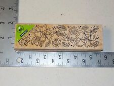 HERO ARTS #K5553 FLOWER BORDER WOOD MOUNT RUBBER STAMP NEW A1490