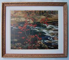 "A.Y. Jackson, Group of Seven  ""The Red Maple"" Large Print in Gold Frame"