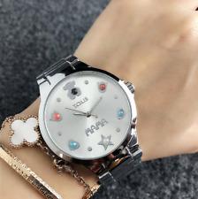 2018 New Round Teddy Watch Women Lady steel quartz Colored pearl Bear Wristwatch