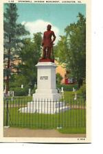 STONEWALL JACKSON MONUMENT,, LEXINGTON, VIRGINIA, 1940'S