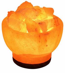 New Himalayan Rock Salt Lamp Natural Crystal Salt Lamp Fire Bowl USB Multi Light