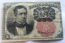 Lot of (4) United States Fractional Currency Notes Includes rare green seal note