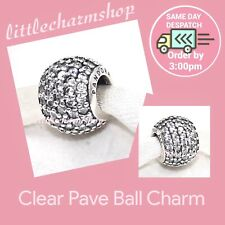 Authentic PANDORA Silver Pave Charm with Cubic Zirconia 791051CZ
