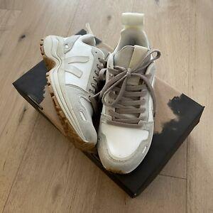 VEJA x RICK OWENS vegan leather seude sneakers hiking style pearl 37