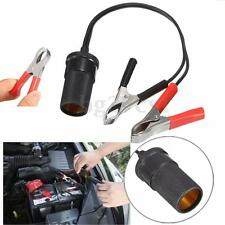 Cigarette Lighter Socket to Car Battery Pump Alligator Clip Charger Cable 12V