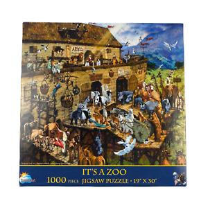 IT'S A ZOO - Noahs Ark by Michael Dudash 1000pc Eco Friendly Jigsaw Puzzle  NIB