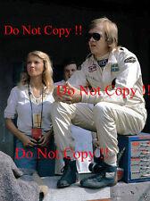 RONNIE PETERSON & BARBRO LOTUS F1 ritratto italiano GRAND PRIX 1973 Fotografia