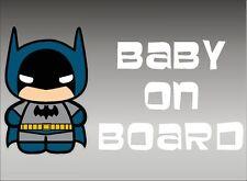 Batman Baby on Board / DC Comics Superheros / Vinyl Vehicle Window Kids Graphics