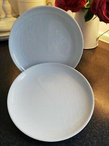 Jamie Oliver 2 White Royal Worcester Side Kick, Tea Plates
