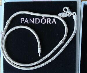 Vintage Sterling Silver Pandora Snake Necklace 18 inch 27.8 grams