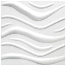5 qm Platten 3D Polystyrol Wand Decke Paneele Wandplatten 50x50cm Wave