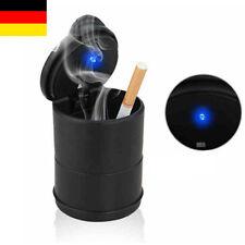 Autoaschenbecher Aschenbecher Schwarz LED Blau PKW KFZ Beleuchtung Neu