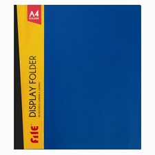 A4 DISPLAY BOOK 40 POCKETS 80 VIEW FILE COVER ANTI-GLARE PRESENTATION FOLDER DW