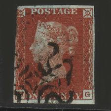 R9 GB QV 1841 1d rojo-pardo placa 39 (SG8) X 'mg' Gu maltés