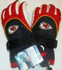 Kansas City Chiefs Youth Ski Gloves By Reebok - Fits 4 - 7 Years NWT
