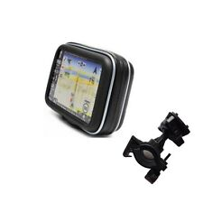 "5"" Screen Waterproof GPS Case Zipper Bag Mount Holder For SatNav Garmin TomTom"