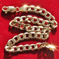 "10k yellow gold bracelet 8.0"" Cuban link chain vintage 3.6gr"