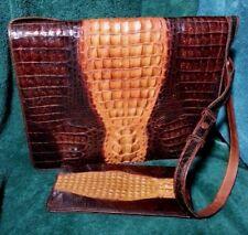 Vintage Genuine Crocodile Convertible Handbag & Wallet