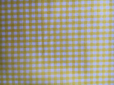 """Springs 1/8"""" Yellow GINGHAM CHECK Poly/Cotton Fabric-yards"""