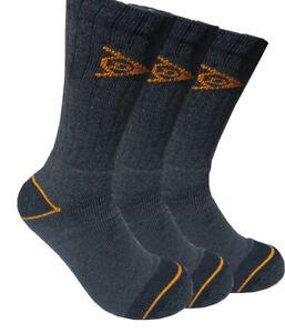 Mens 3,6 Pairs of Dunlop Hiking Work Walking Outdoor Socks Size 6-11 *Heavy Duty