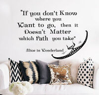 Cheshire Cat Wall Decal Quote Decal Removable Stickers Alice In Wonderland S101