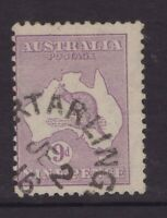 Victoria PORT ARLINGTON unframed postmark 1916 on 9d kangaroo (2nd w/m)