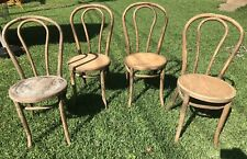 Vintage 1948 Great Northern Chair Co. Chicago Set of 4 Bentwood Wooden Thonet