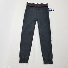 Champion womens sweat pants juniors size M gray elastic waist cuff new