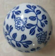 6 cm Deko Kugel lila-braun Keramik Dekokugel mit reaktiver Glasur aubergine