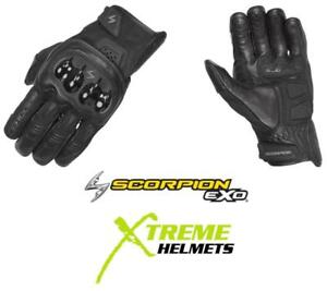 Scorpion Talon Gloves Short Cuff Leather Ventilated Breathable Pre-curved S-3XL