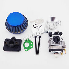 15mm Carburetor Air Filter Alloy Stack Manifold 43cc 49cc 50cc 52cc Gas Scooter