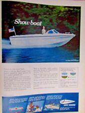 """1969 Larson Volero 187 Comboard SHOW BOAT Original Print Ad 8.5 x 10.5"""""""
