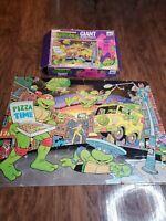Teenage Mutant Ninja Turtles Vintage TMNT Giant Floor Puzzle RoseArt Brand 1989