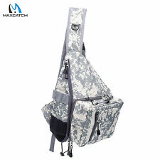 Fly Fishing Chest Bag Camo Shoulder Bag Chest Pack with Tippet Holder & Nipper