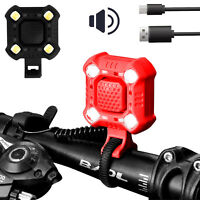 Waterproof USB Rechargeable LED Bicycle Headlight Bike Head Light Lamp With Horn
