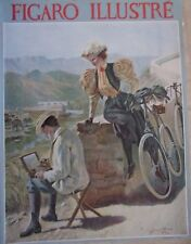PAGE COUVERTURE D'APRES TABLEAU GEORGES ROUX FIGARO ILLUSTRE 1895 LE PEINTRE
