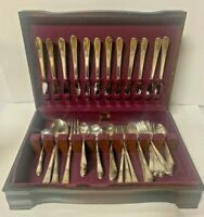 Vintage 1847 Rogers Bros Adoration Pattern International Silverware 73 Piece Set
