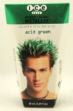 ICE Hair Spiker Colorz, Colored Styling Glue, (Acid Green), 1.69 oz.