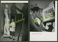 Bildhauer Fritz Koelle Atelier Geiselgasteig Skulptur Saar Bergmann München 1937
