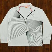 Puma Pullover Sweater - 1/4 Zip - Warm Cell - White - Medium