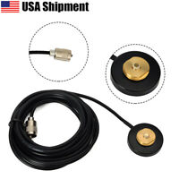 55MM NMO Mount Magnetic Base For Car Taxi Mobile Radio UHF/VHF Dual Band Antenna