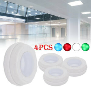 4× Under Cabinet Lights Dimmable RGB LED Kitchen Lamp Closet Cupboard Lighting