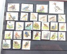 Belgium Bird Stamps 27 Different Used Stamps