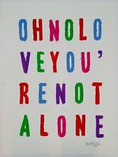 "Stuart Semple original ""Oh No Love You're Not Alone"" contemporary art painting"