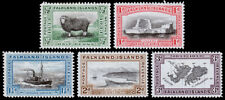 Falkland Islands Scott 65-69 (1933) Mint H VF, CV $74.25 M